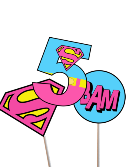 supergirl - superman birthday party ideas
