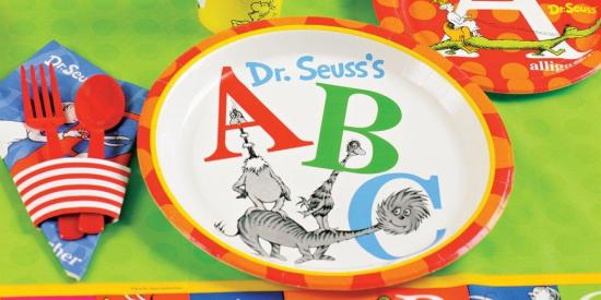 Abc Party Favors: Dr. Seuss Cat In The Hat & Thing One Thing Two