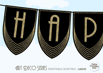 Roaring twenties great gatsby party ideas birthday for Art deco party decoration ideas