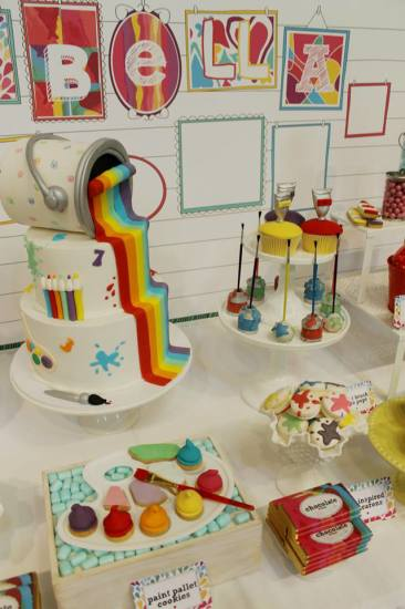 Modern Art Party Baby Shower Ideas Themes Games