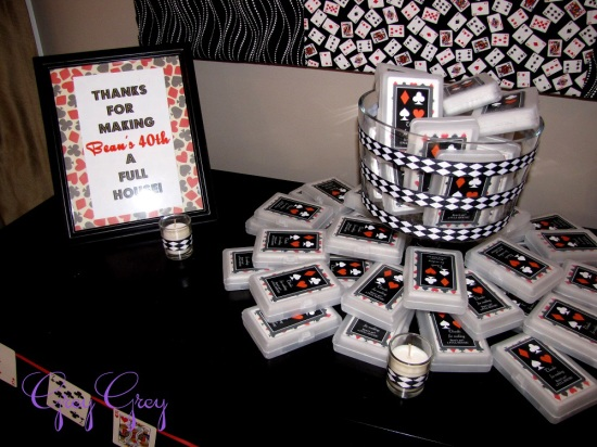 Casino Themed Table Decorations