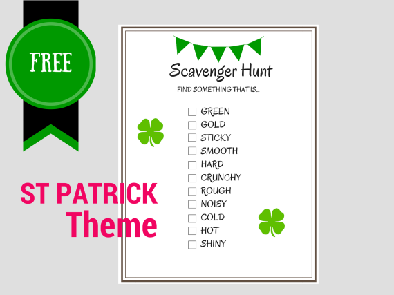 FREE Printable Scavenger Hunt Games - Birthday Party Ideas & Themes
