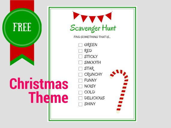 Free Printable Scavenger Hunt Games Birthday Party Ideas