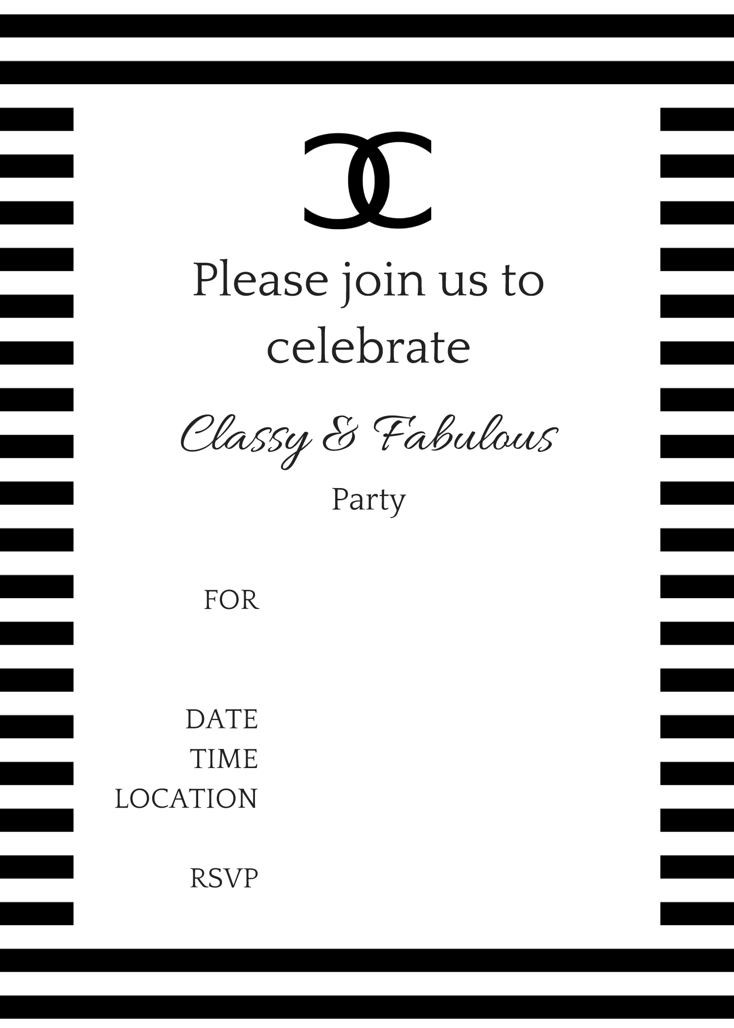 COCO Chanel Party Ideas - Birthday Party Ideas & Themes