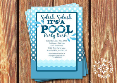 Kids pool party food ideas