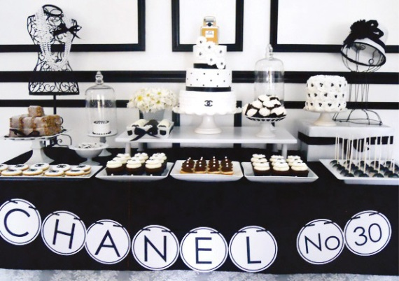Chic Coco Chanel Inspired 30th Birthday Birthday Party