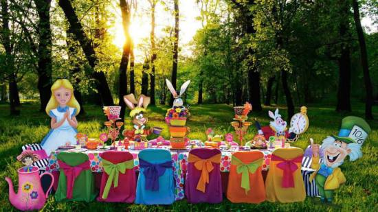 Mad hatter tea party birthday party ideas themes - Mad hatter tea party decoration ideas ...