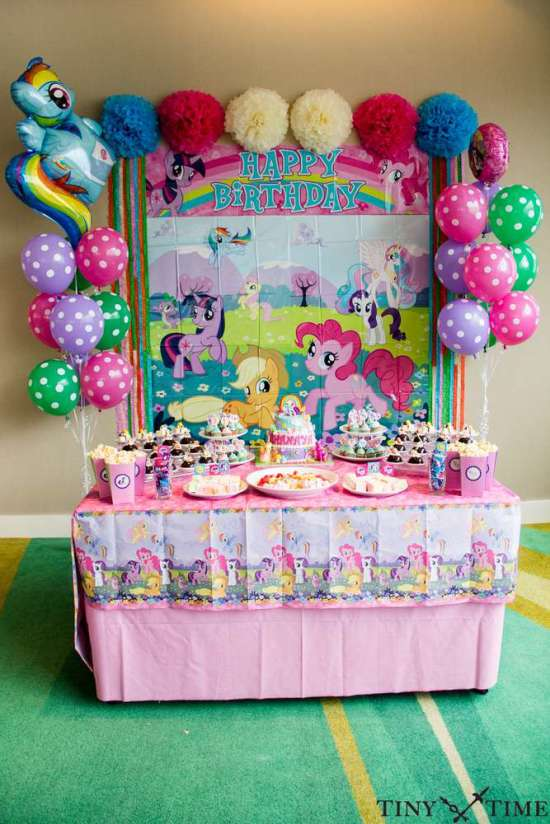 My little pony tea time birthday party ideas themes for 5th birthday decoration ideas