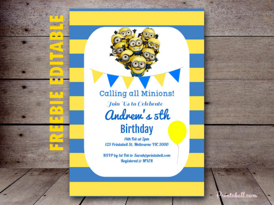 Free minion party printable birthday party ideas themes filmwisefo
