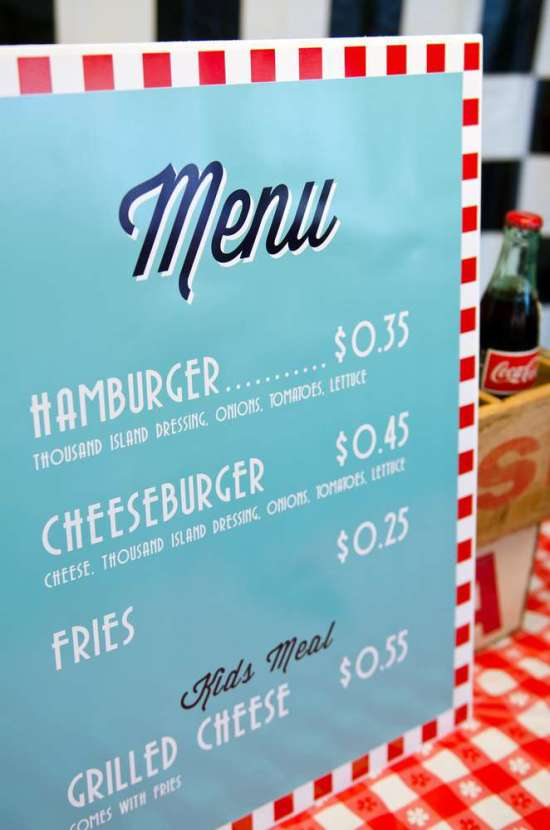 50 S Diner Soda Shop Party Birthday Party Ideas Amp Themes
