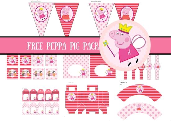Peppa Pig Printable Birthday Decorations ~ Free princess peppa pig printable birthday party ideas