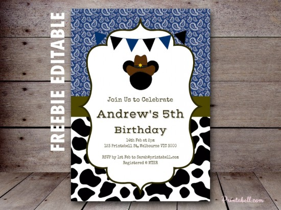 FREE Lil Cowboy Mickey Mouse Printable - Birthday Party ...