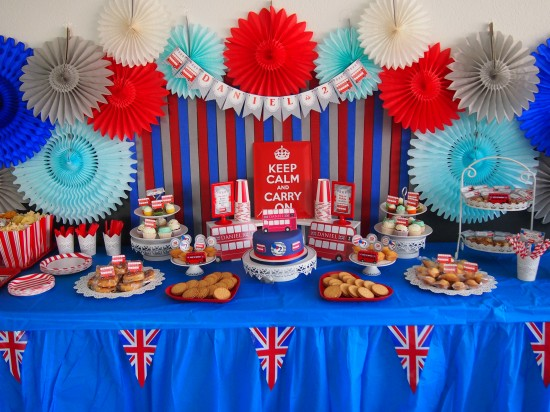 Red And Blue London Bus Birthday Birthday Party Ideas