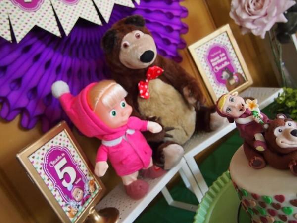 masha and the bear inspired birthday