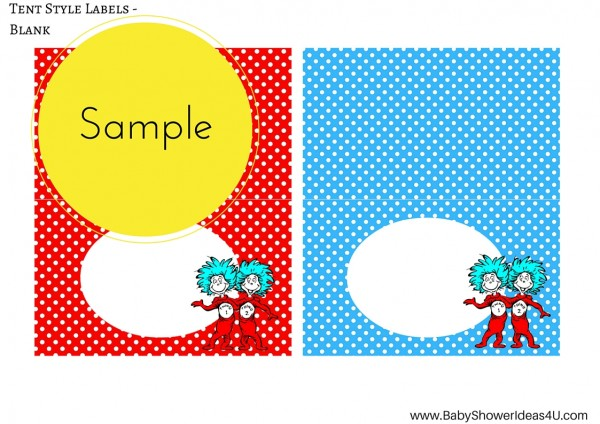 FREE Dr Seuss Thing 1 Thing 2 Twins Party Printable - Birthday Party ...