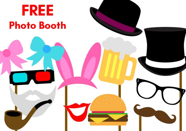 Free printable party photobooth props birthday party for Photo booth props template free download
