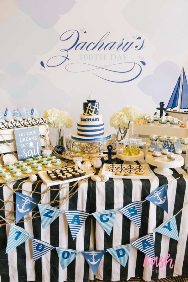 modern nautical birthday party