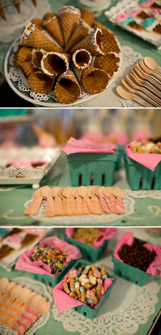 Unique Birthday Centerpiece Ideas : Ice cream shoppe party birthday ideas themes