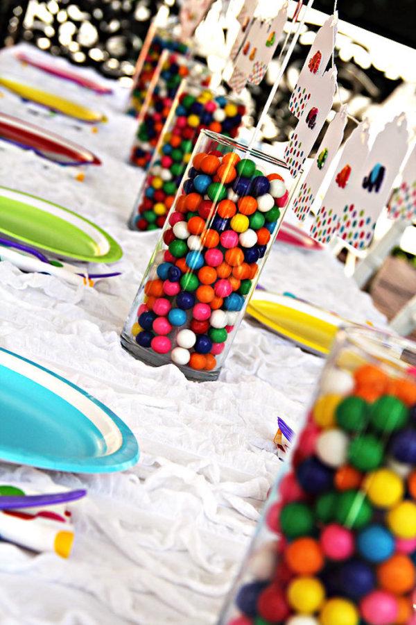 Rainbow Elephant Birthday Celebration Birthday Party