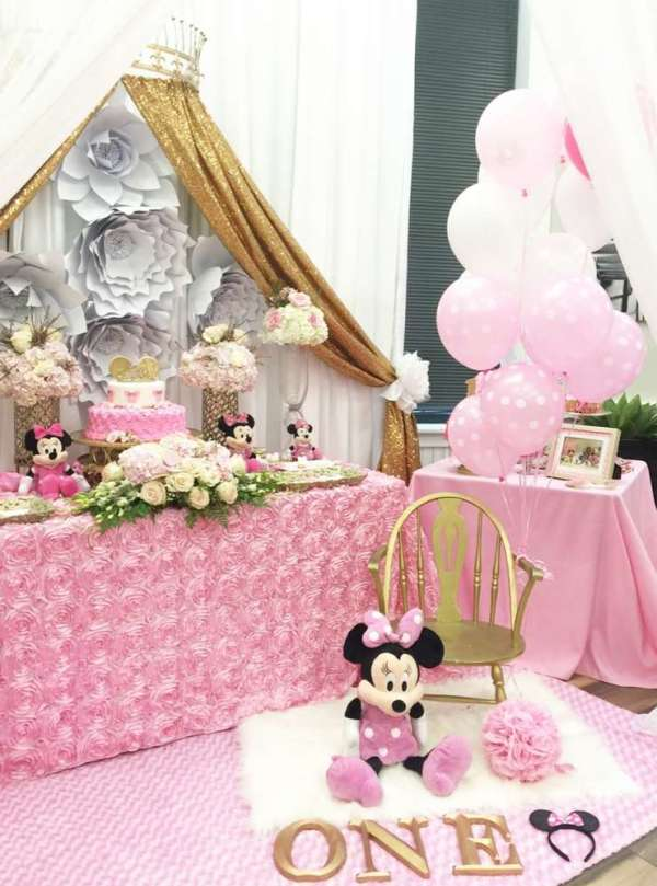 Charming Minnie Mouse Birthday Party - Birthday Party ...