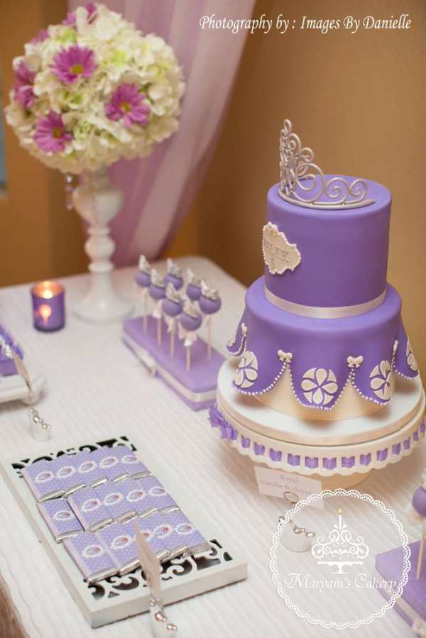 Purple And White Sophia Birthday Party Birthday Party