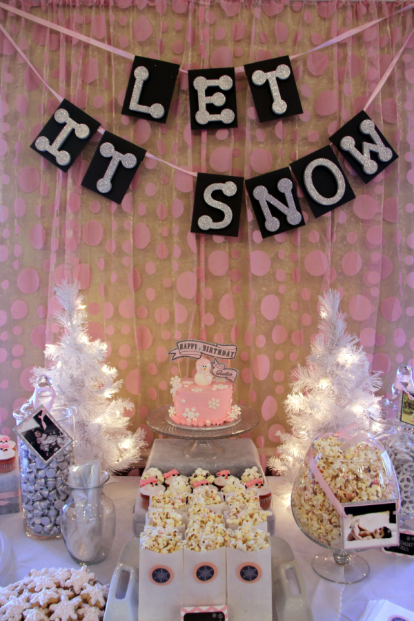 pink winter onederland birthday   birthday party ideas