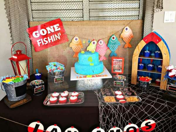 Charming Gone Fishing Birthday Party Birthday Party