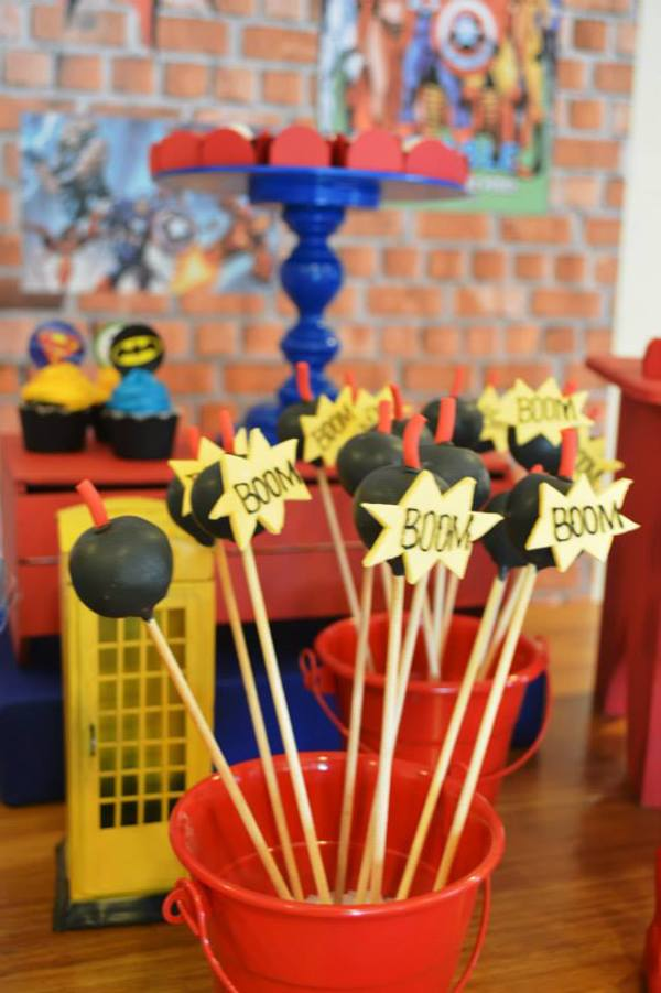 Ka Pow Superhero Birthday Birthday Party Ideas Amp Themes