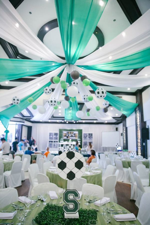 Modern Soccer Football Club Party Birthday Party Ideas
