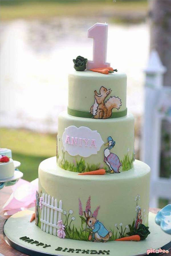 Whimsical Peter Rabbit 1st Birthday Birthday Party Ideas
