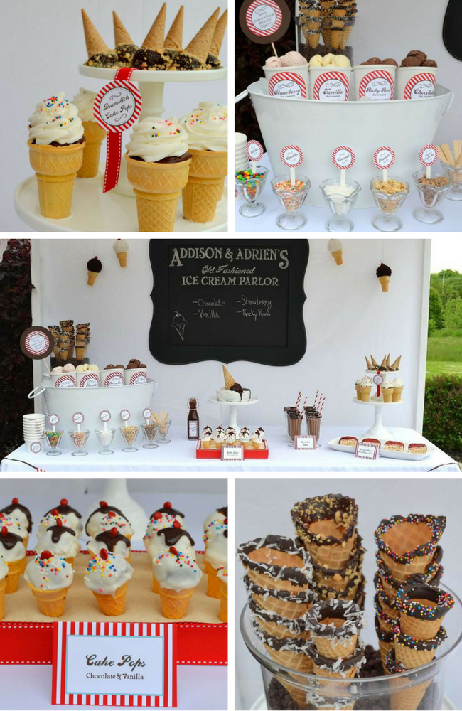 Ice Cream Party Inspirations Birthday Party Ideas Amp Themes