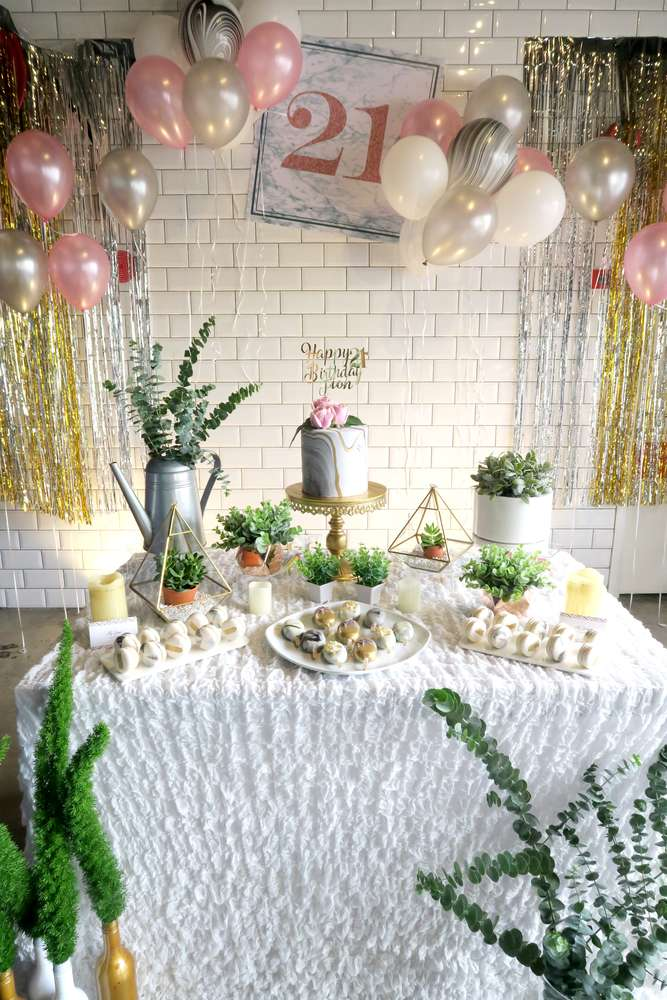 Whimsical Marble Birthday Party Birthday Party Ideas