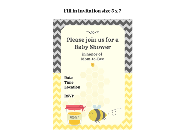 free mommy to bee printable