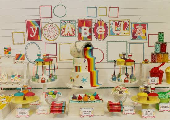 Modern Art Birthday Party ideas
