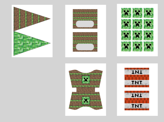This is a photo of Minecraft Free Printable Food Labels pertaining to diamond