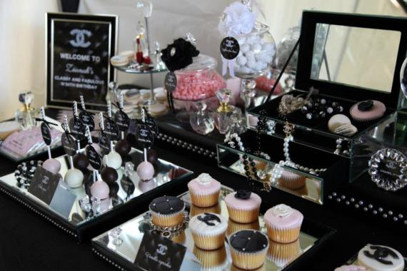 coco-chanel-inspired-birthday-party-fabulous-dessert-table-with-treats-snacks