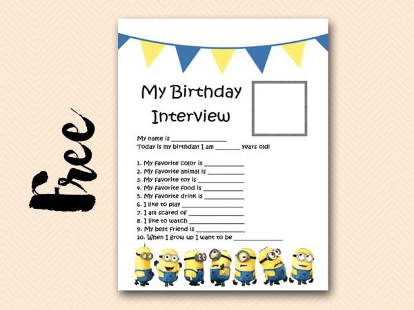 Free Minion Party Printable Birthday Ideas Themes