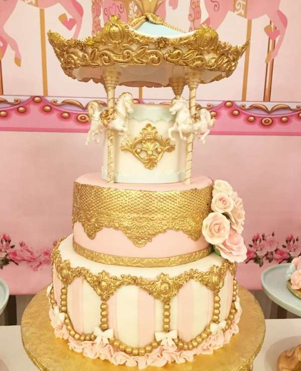 Charming-Carousel-Birthday-Party-Cake
