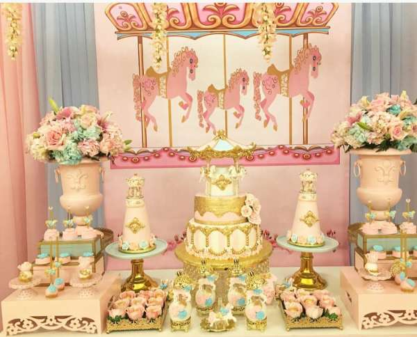 Charming-Carousel-Birthday-Party-Dessert-Station